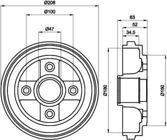 Тормозной барабан 'TEXTAR 94023900'.