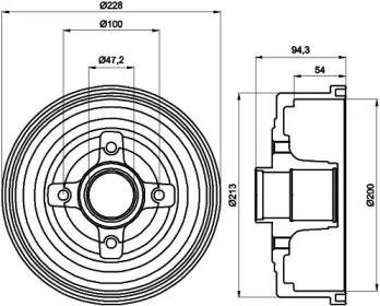Тормозной барабан 'TEXTAR 94024200'.