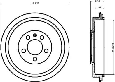 Тормозной барабан 'TEXTAR 94024300'.