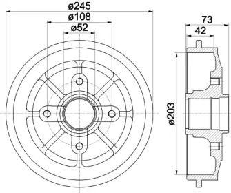 Тормозной барабан на CITROEN C2 TEXTAR 94026600.