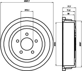 Тормозной барабан на Крайслер Вижн TEXTAR 94028100.