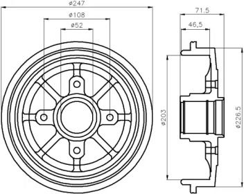 Тормозной барабан 'TEXTAR 94028200'.