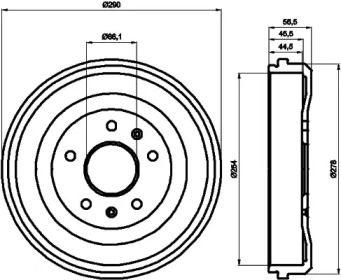 Тормозной барабан 'TEXTAR 94030900'.