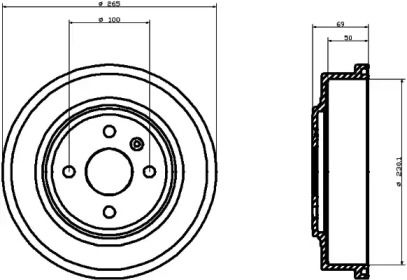 Тормозной барабан 'TEXTAR 94031500'.