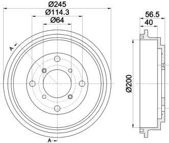 Тормозной барабан на Субару Джасти 'TEXTAR 94032600'.