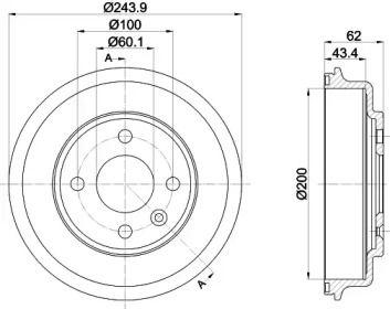 Тормозной барабан на Шевроле Кобальт 'TEXTAR 94036900'.