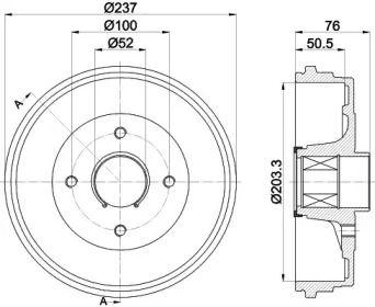 Тормозной барабан на Рено Модус 'TEXTAR 94041400'.