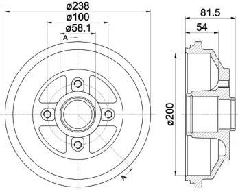 Тормозной барабан 'TEXTAR 94043000'.