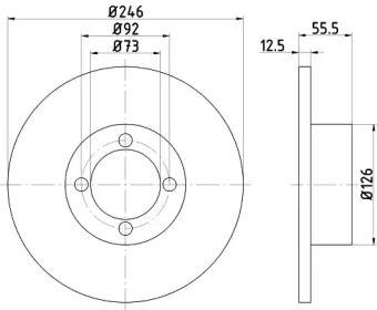 Тормозной диск на OPEL REKORD 'TEXTAR 92010700'.