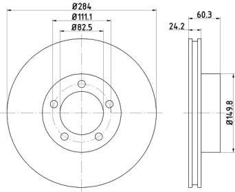 Вентилируемый тормозной диск на Ягуар ХЖСЦ 'TEXTAR 92031600'.