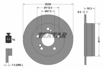 Тормозной диск 'TEXTAR 92032003'.