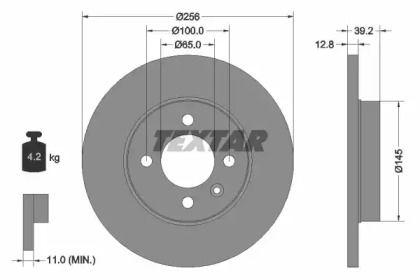 Тормозной диск 'TEXTAR 92041703'.