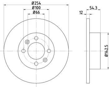 Тормозной диск на RENAULT 25 'TEXTAR 92051500'.