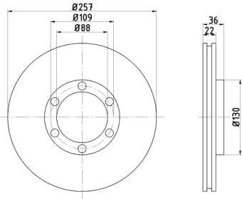 Вентилируемый тормозной диск на Исузу Джемини 'TEXTAR 92075800'.
