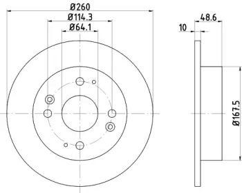 Тормозной диск на ACURA VIGOR 'TEXTAR 92081700'.