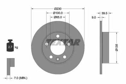 Тормозной диск 'TEXTAR 92082503'.
