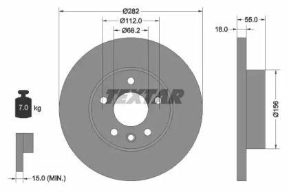 Тормозной диск на Фольксваген Комби 'TEXTAR 92083703'.