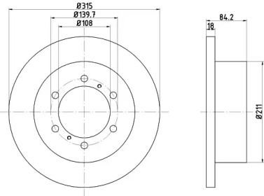 Тормозной диск на MITSUBISHI DELICA 'TEXTAR 92093100'.