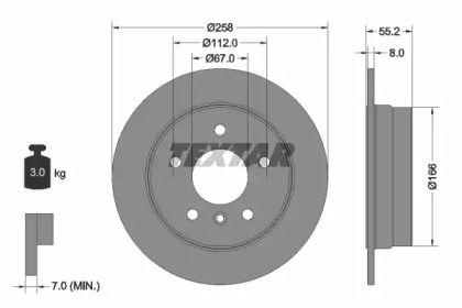 Тормозной диск на Мерседес Ванео 'TEXTAR 92099703'.