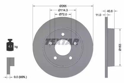 Тормозной диск 'TEXTAR 92130500'.