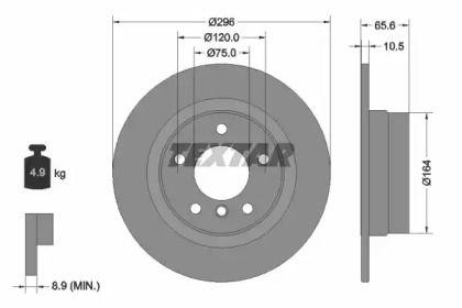 Гальмівний диск TEXTAR 92133103.