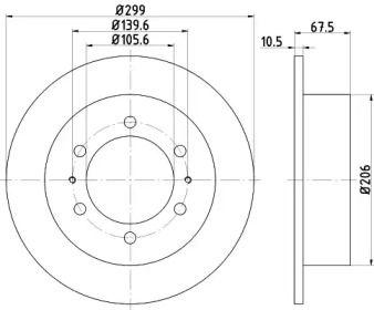 Тормозной диск на Санг Йонг Муссо 'TEXTAR 92138500'.