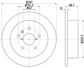 Тормозной диск на TOYOTA ALPHARD 'TEXTAR 92144203'.