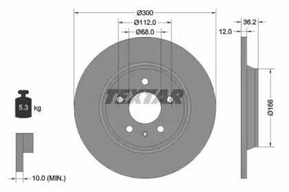 Тормозной диск на Ауди А7 'TEXTAR 92160103'.