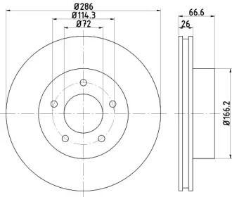 Вентилируемый тормозной диск на Форд Эксплорер 'TEXTAR 92169003'.