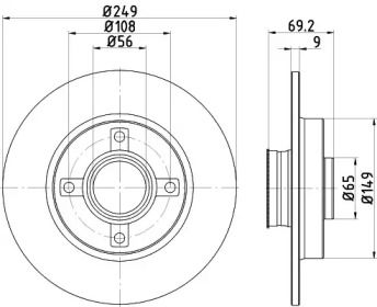 Тормозной диск на Ситроен С3 Аиркросс 'TEXTAR 92202103'.
