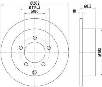 Тормозной диск на Крайслер 200 'TEXTAR 92202903'.