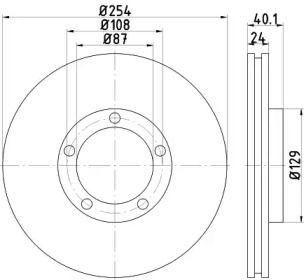 Вентилируемый тормозной диск на Хендай Н100 'TEXTAR 92234500'.