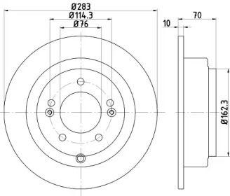 Тормозной диск на Киа Опирус 'TEXTAR 92244403'.