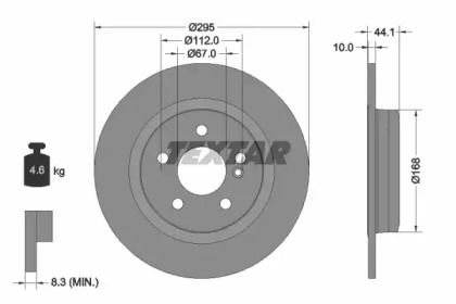 Тормозной диск на MERCEDES-BENZ CLA 'TEXTAR 92254903'.