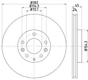 Вентильований гальмівний диск на Мазда РХ8 TEXTAR 92261503.