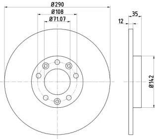 Тормозной диск на Ситроен Спейс Турер 'TEXTAR 92267303'.