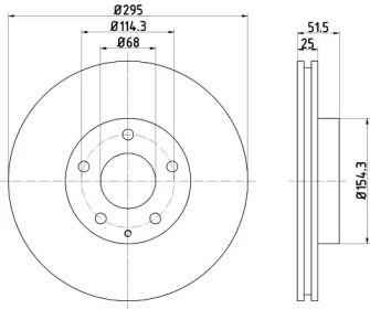 Вентилируемый тормозной диск на MAZDA CX-3 'TEXTAR 92267603'.