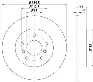 Тормозной диск на Рено Каджар 'TEXTAR 92274003'.