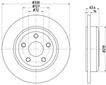 Тормозной диск на Додж Дюранго 'TEXTAR 92274703'.
