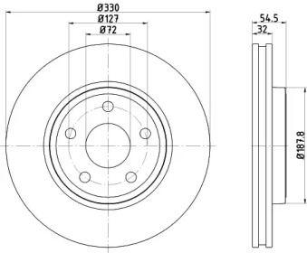 Перфорированный тормозной диск на DODGE DURANGO 'TEXTAR 92274803'.