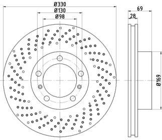 Тормозной диск на PORSCHE 718 TEXTAR 92279605.
