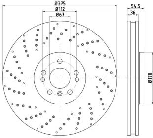 Тормозной диск на Мерседес Глс 'TEXTAR 92279805'.