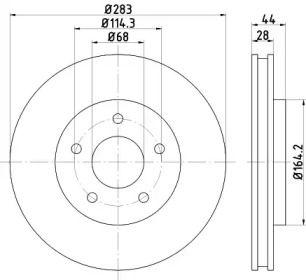 Вентилируемый тормозной диск на NISSAN SERENA 'TEXTAR 92280103'.