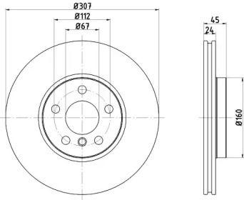 Вентилируемый тормозной диск на MINI COUNTRYMAN 'TEXTAR 92283603'.