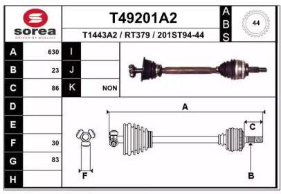 Піввісь 'EAI T49201A2'.