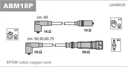 Высоковольтные провода зажигания 'JANMOR ABM18P'.