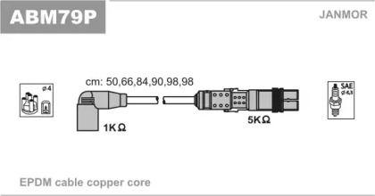 Високовольтні дроти запалювання JANMOR ABM79P.