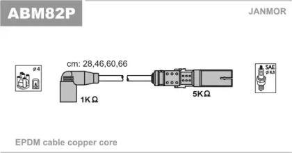 Высоковольтные провода зажигания на Шкода Октавия А5 JANMOR ABM82P.