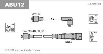 Высоковольтные провода зажигания на SEAT TOLEDO 'JANMOR ABU12'.