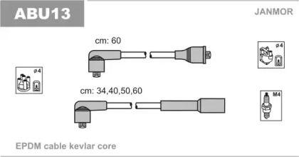 Высоковольтные провода зажигания на SEAT TOLEDO 'JANMOR ABU13'.